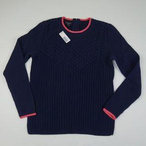 Talbots Navy Blue Crewneck Sweater